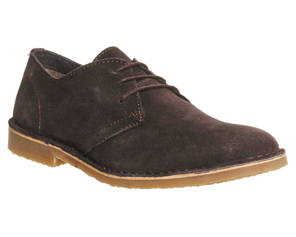 Mens Office Fahrenheit Desert Shoes Chocolate Suede