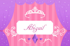 Copy of Personalized Disposable Placemats - Princess