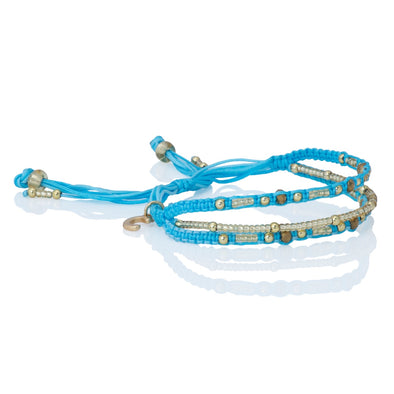 Love Yourself - Beaded Bracelet - Blue