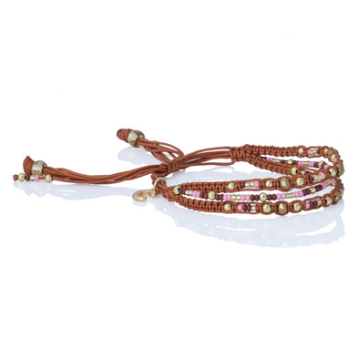 Love Yourself - Beaded Bracelet - Camel
