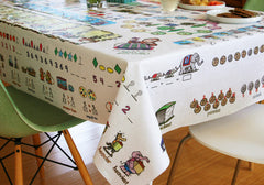 Mostly Math Tablecloth for Pre-K and Kindergarten level