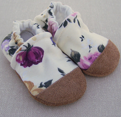 Flowers on Yellow Slippers