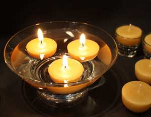 Happy Flame Beeswax Tea lights 9 hour beeswax tea lights- our Happy Lights