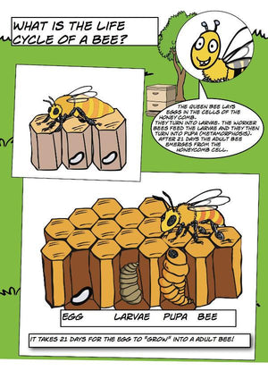 Happy Flame Free comic about honey bees