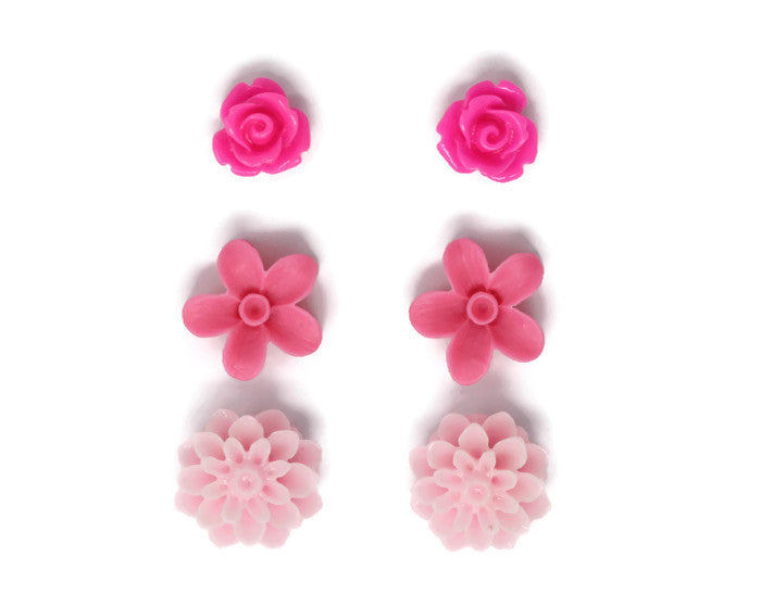 Bloom Stud Set ~ Shades of Pink Too
