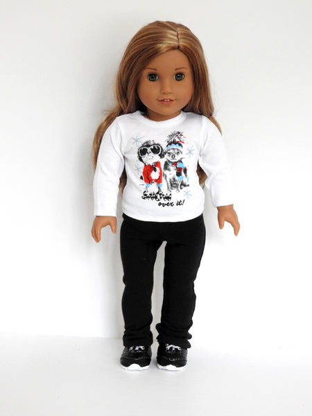 18 Inch Doll Plain Graphic T-Shirt and Yoga Pants