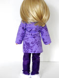 Wellie Wishers Doll Handmade PJ'S, Robe Slippers for14 -14.5 Inch Doll