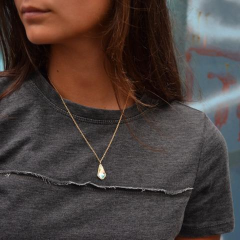 Sloane Sterling Silver Necklace In Crystal AB-Necklace-finish:-Luca + Danni