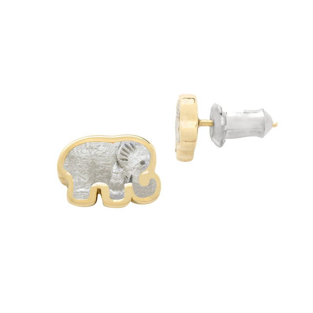 Elephant Stud Earrings finish:18k Gold Plated