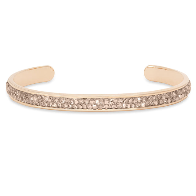 Druzy Channel Cuff in Champagne finish:Rose Gold Plated