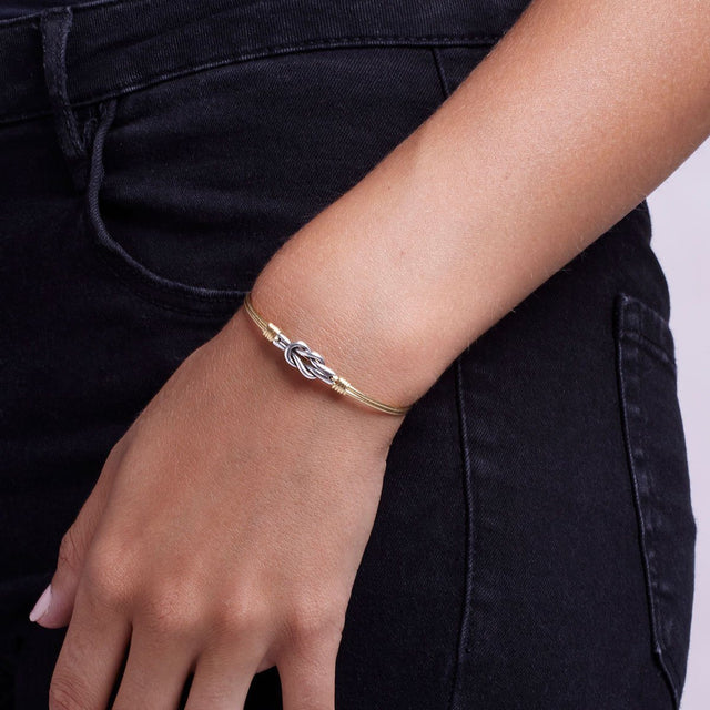 Love Knot Bangle Bracelet-Bangle Bracelet-finish:-Luca + Danni