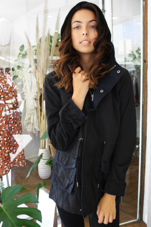 ALL ABOUT EVE - FUNDAMENTAL UTILITY JACKET BLACK 34916