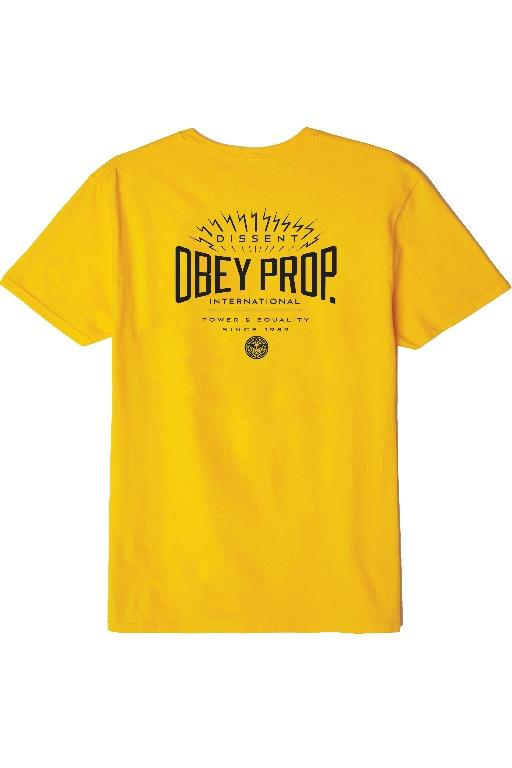 OBEY - OBEY PROP INTL. TEE GOLD 33590