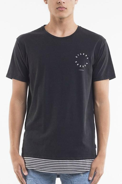 SILENT THEORY - WARSHAW TEE WASHED BLACK 33915