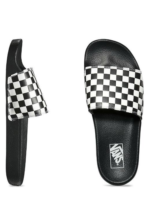 VANS - MENS SLIDE ON (CHECKERBOARD) WHITE 34135