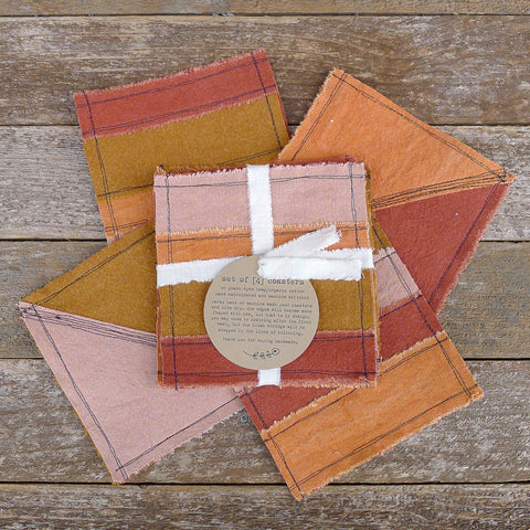 coasters: earth tones/quilt