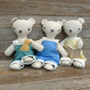 heirloom teddy bear: dusty rose overalls