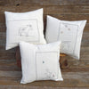 organic cotton/hemp pillow: stargazing rabbit