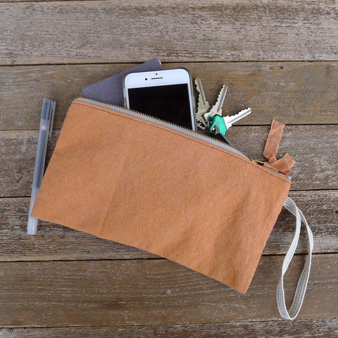 zipper notions pouch: orange