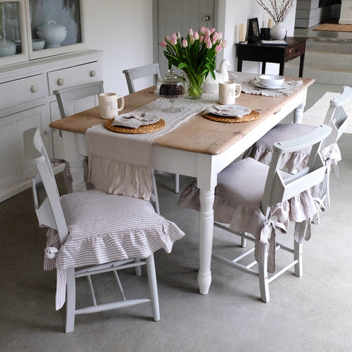 Linen Slip Covers for Dining chairs - Larger Size - Linen
