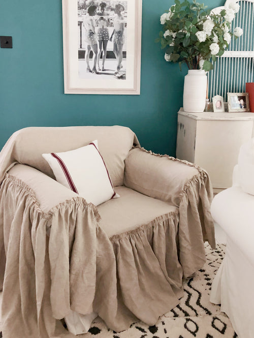 Ruffled Chair Slipcover