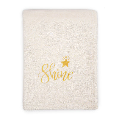Star Applique Plush Fleece Baby Blanket