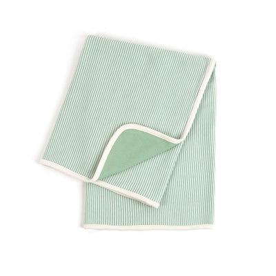 Organic Pinstripe Double Layer Receiving Blanket