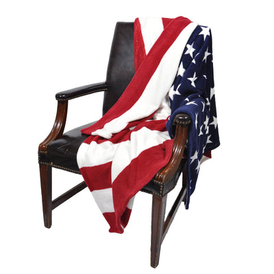 Sleeping Partners Oversized USA Flag Fleece Throw Blanket