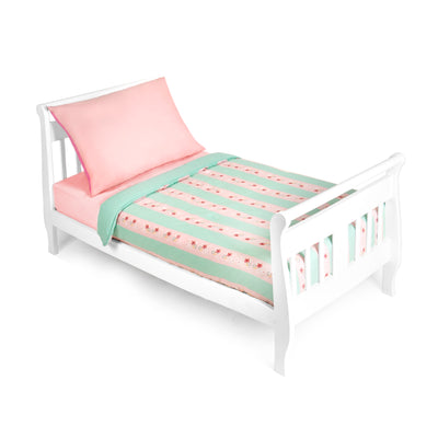 4 Piece Toddler Bedding Set, Butterfly Paisley