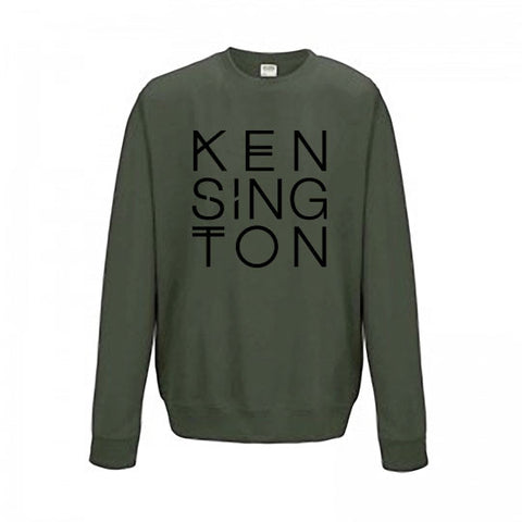 "Sweater ""Logo"" (unisex, moss green)"