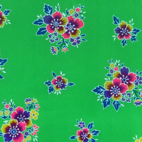 Green / Pattern #1 - Crystal Floral Satin