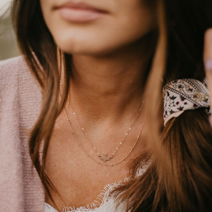 Satellite Necklace - Barberry + Lace