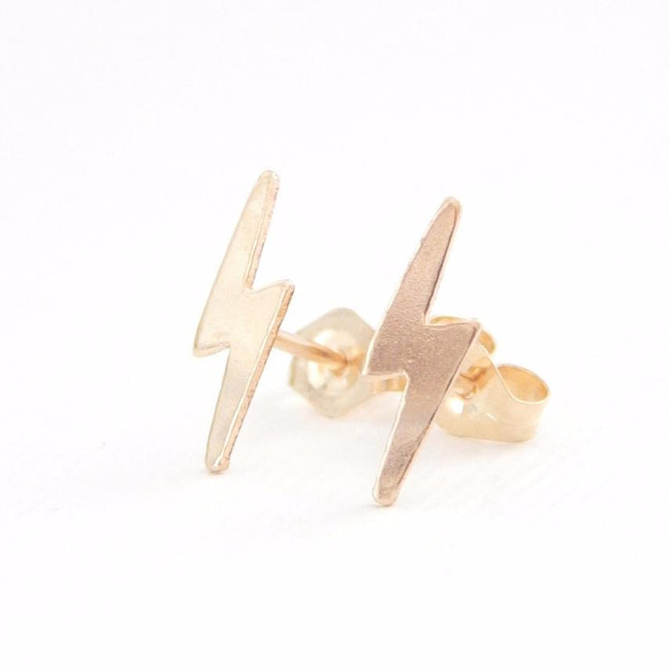 Lightning Bolt Stud Earrings - Barberry + Lace