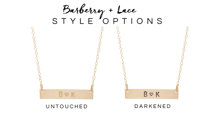 Bar + Disc Layering Necklace Set - Barberry + Lace