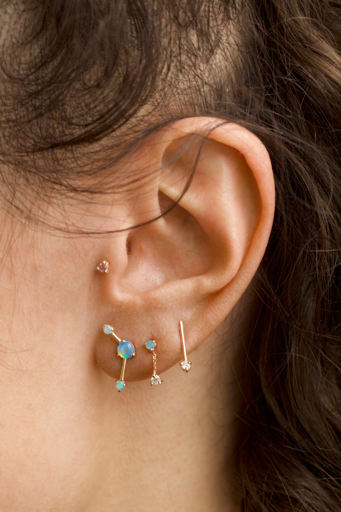 Three-Step Point Earrings