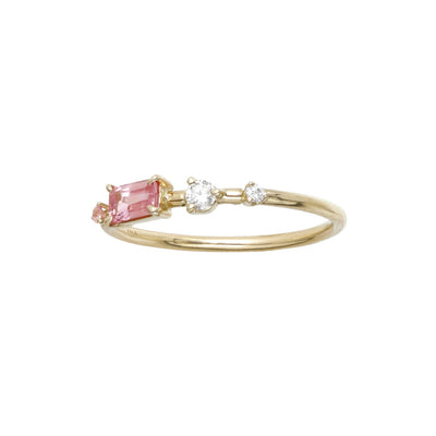 One of a Kind Blush Four-Step Ring with Blush Sapphire and Diamond - Available at No. 3