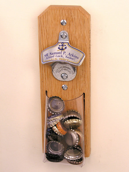 Personalized United States Navy Wall Bottle Opener