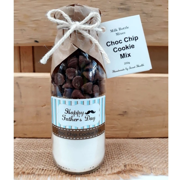 Father's Day Choc Chip Cookie Mix. Makes 6 or 12 delicious cookies