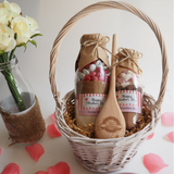 Mother's Day Bake With Me Basket. Contains 2 of our delicious & decadent mixes