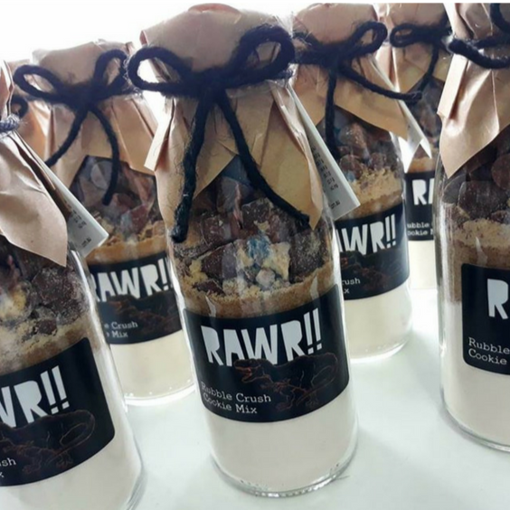 "RAWR DINOSAUR Themed ""Take & Bake"" Cookie Mix Party Favours"