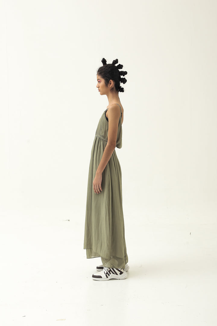 Nona Tank Dress in Dusty Green