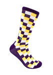 CheckerBox Socks - Rouge