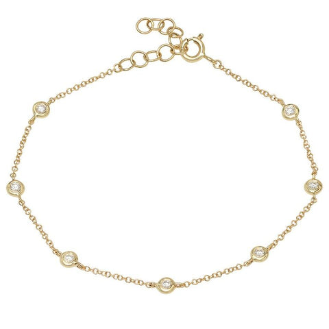 diamonds by the yard bracelet 14K yellow gold sachi jewelry
