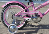 "Firmstrong Mini Bella Girl 16"" Beach Cruiser Bicycle w/ Training Wheels"