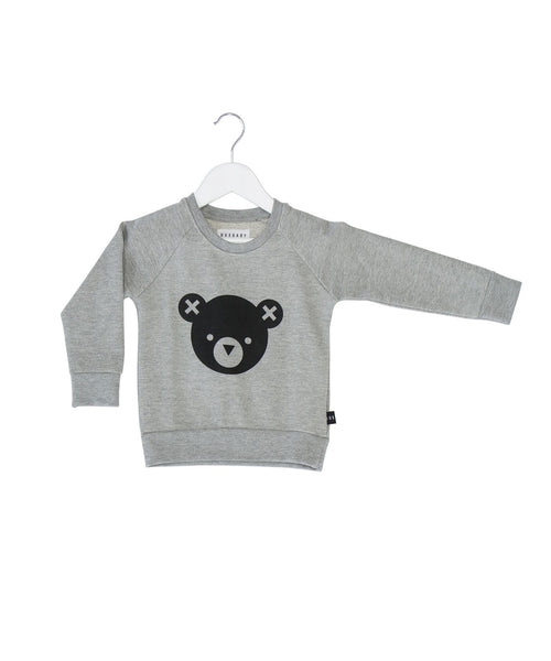 Huxbaby SS17 Bear Essentials Fleece Sweatshirt in Grey