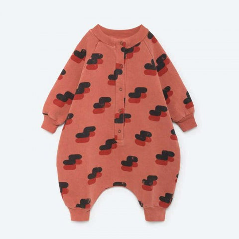 The Animals Observatory Sheep Baby Suit | Orange Red [LAST ONE]