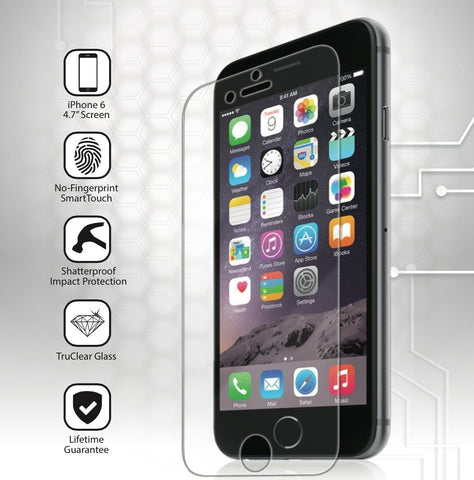 iPhone 6 Glass Screen Protector: (4.7 inch ONLY) Edge to Edge Tempered Glass Tech Shield