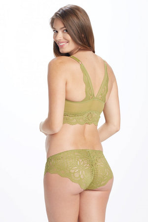 Detailed Back Shot of Olivea Olive Green Maternity Panty