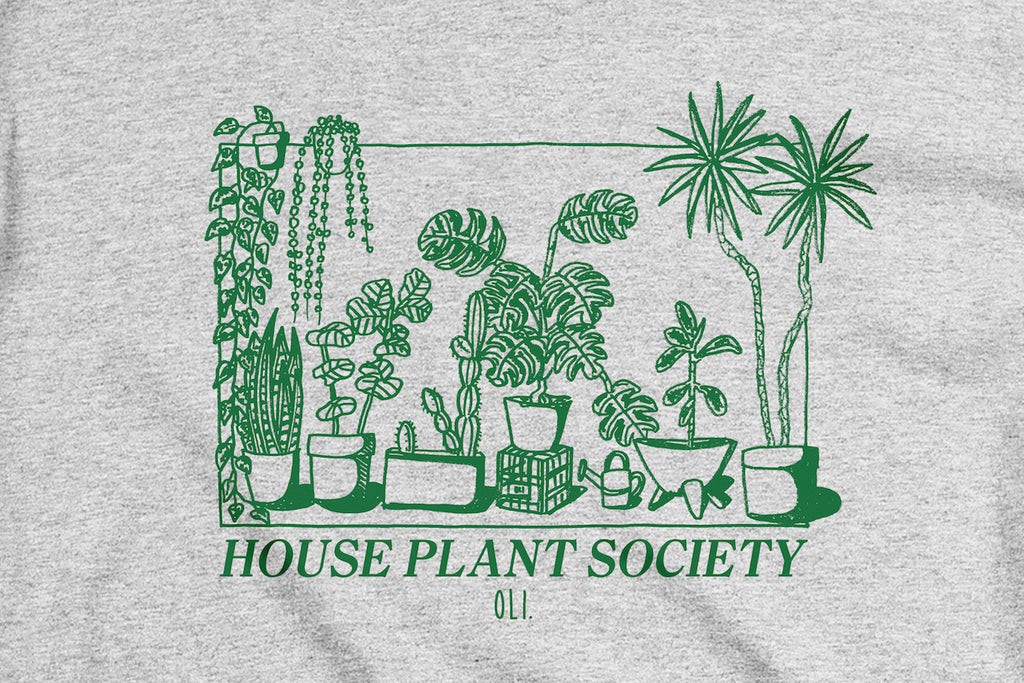 House Plant Society Long Sleeve - Grey - Oli.