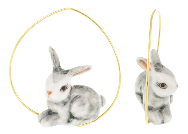 Grey Rabbit earrings